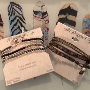 Jewelry - Stone & Sterling Wrap Bracelets